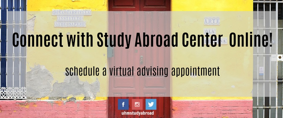 Schedule a virtual advising appointment to connect with us!