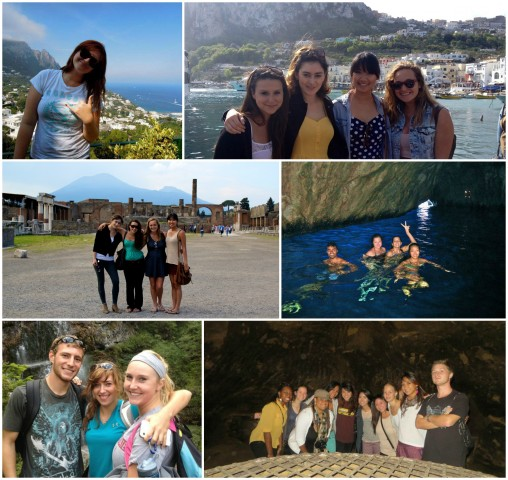 University of Hawaii at Manoa students on excursions in Italy
