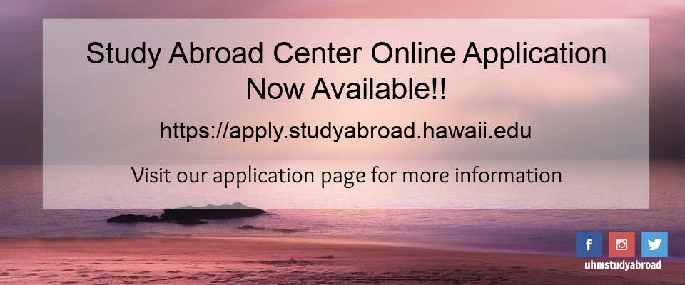 Study Abroad Center Online Application