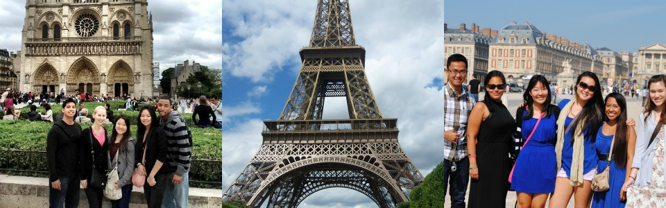 Photos of University of Hawaii at Manoa Students in the Paris, France Program