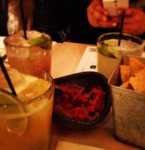Drinks from Wahaca restaurant.